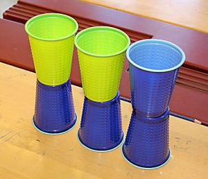 This is how the cups were stacked at the start.