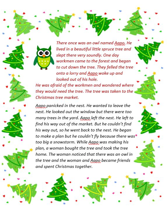 Owl Stories in Finnish and English for Christmas | English