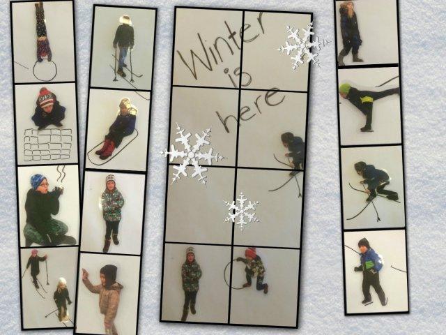 winter activities collage