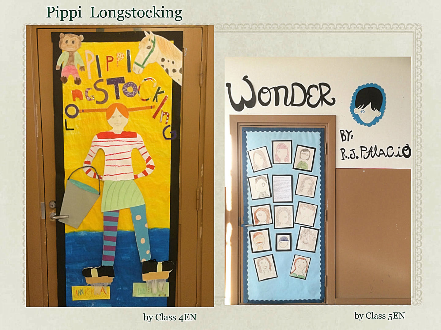 Cartoon classroom door - Book Door_4en_5en
