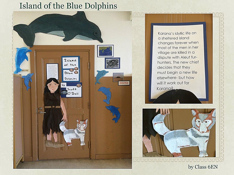 Cartoon classroom door - Book Door_6en Jpg