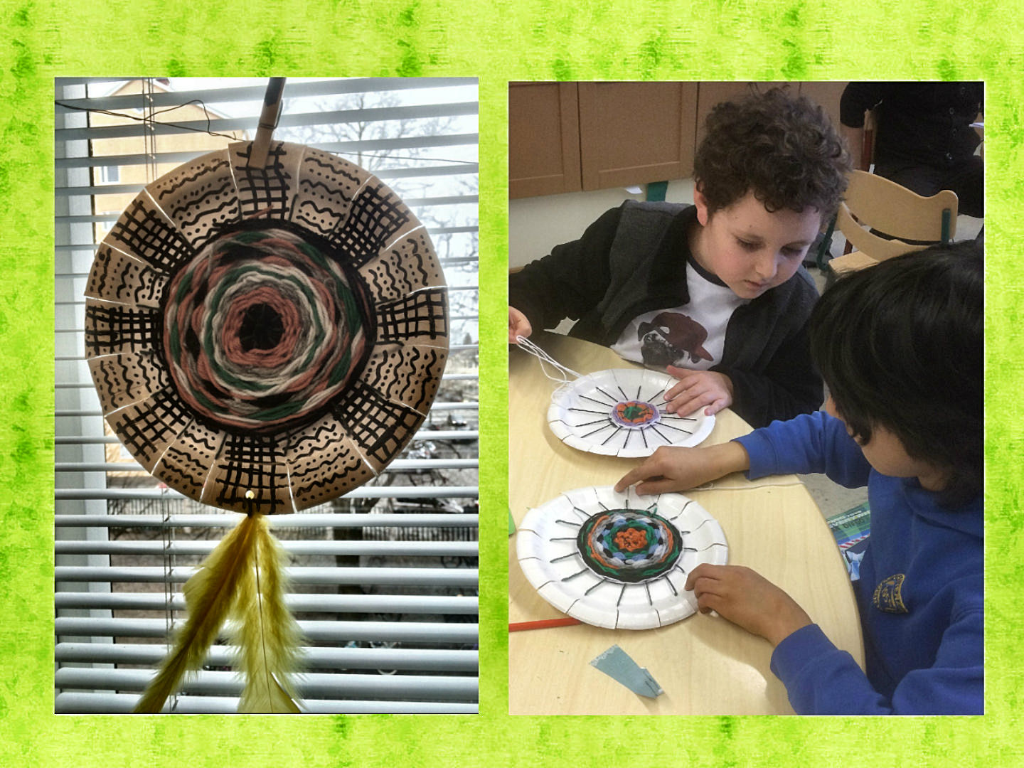 In their craft lessons English Class second graders have been practicing their weaving skills using a paper plate loom. The result is an interesting ... & Paper Plate Weaving « English Classes at Cygnaeus School