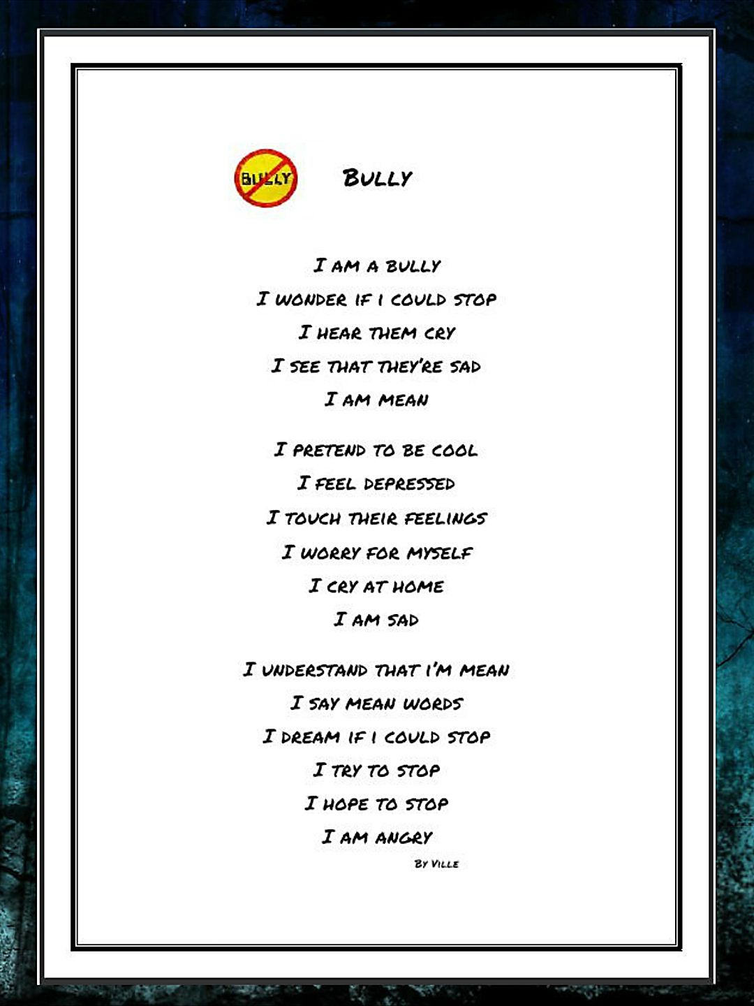 Bullying Poems | Examples of Bullying Poetry
