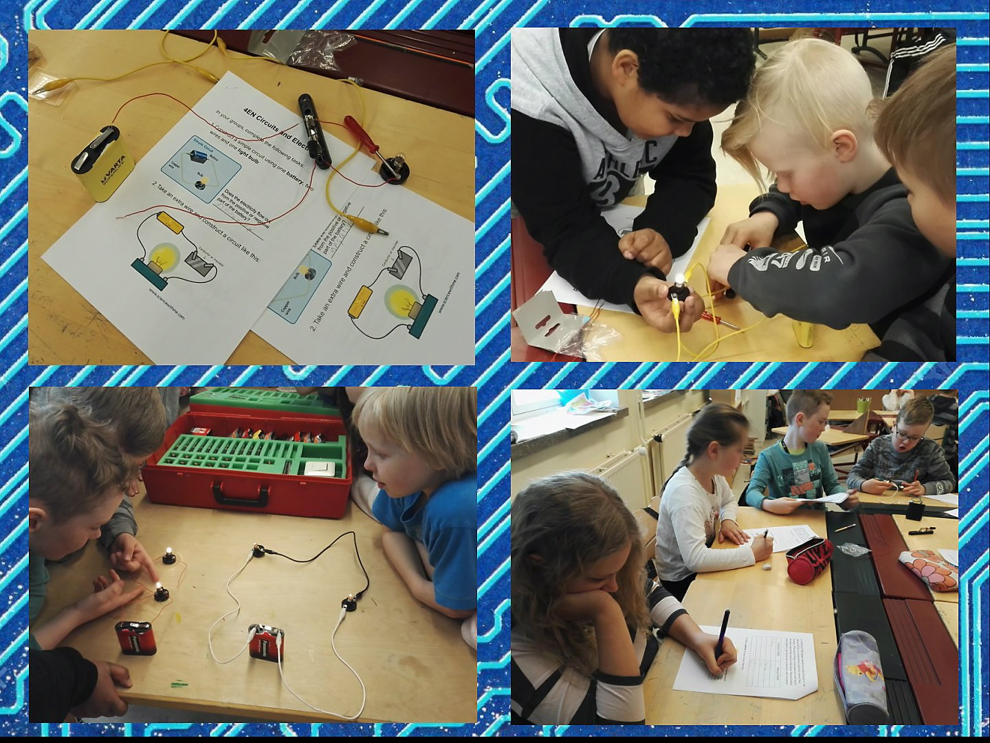 Hands On With Electricity And Circuits English Classes At Cygnaeus Learning The Fourth Graders Went To Add Switches Their Thereby Principle Of How Switch Actually Works