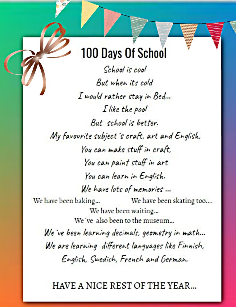 Poem English Classes At Cygnaeus School Read the 100 most popular and greatest poems and limericks ever written in english poetry by famous poets all over the world. poem english classes at cygnaeus school
